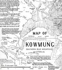 Dunphy's Kowmung Map