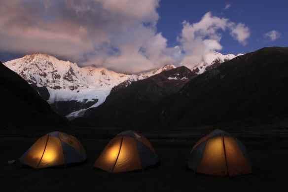 My tiny home tent on the Huayhuash Circuit, Peru