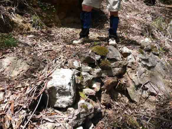 Some of Lindeman's original retaining walls seen in a 'good' section.
