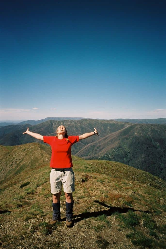 How Wilderness makes me feel (Mt Feathertop, Victorian High Country, Australia).
