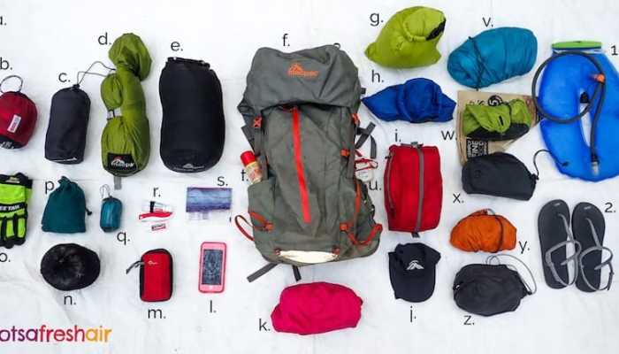 What to pack for overnight hiking