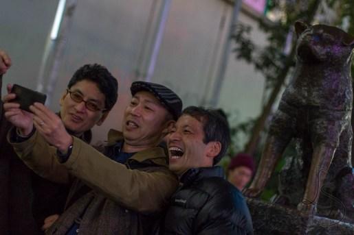 Selfie with Hachiko, Shibuya Station