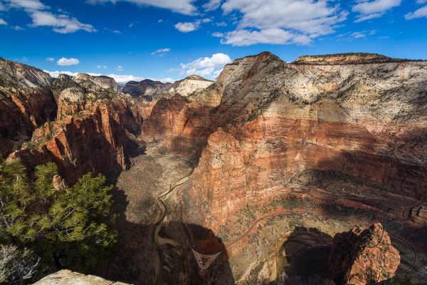 Zion's dappled valley, viewed from the Angels Landing summit   LotsaSmiles Photography