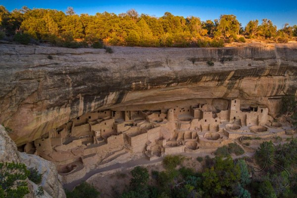 Mesa Verde's Cliff Palace at sunset | LotsaSmiles Photography