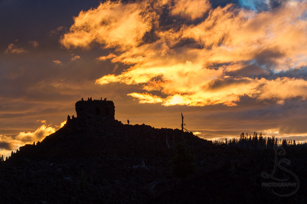 Silhouette of the observatory at the top of McKenzie Pass | LotsaSmiles Photography
