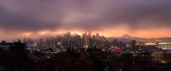 A blanket of fog envelops Seattle at dawn   LotsaSmiles Photography