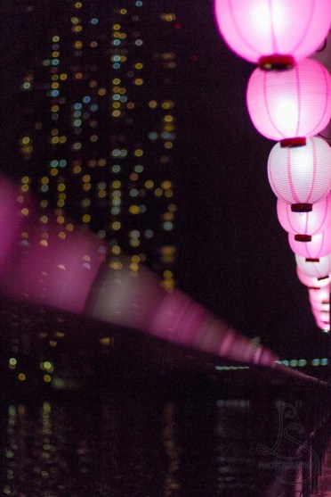Lanterns on a boat in Tokyo Bay