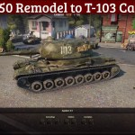 T-150 Remodel to T-103 (Camo Skin)