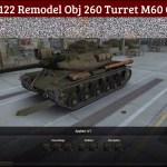 KV-122 Obj 260 Turret M60 Gun