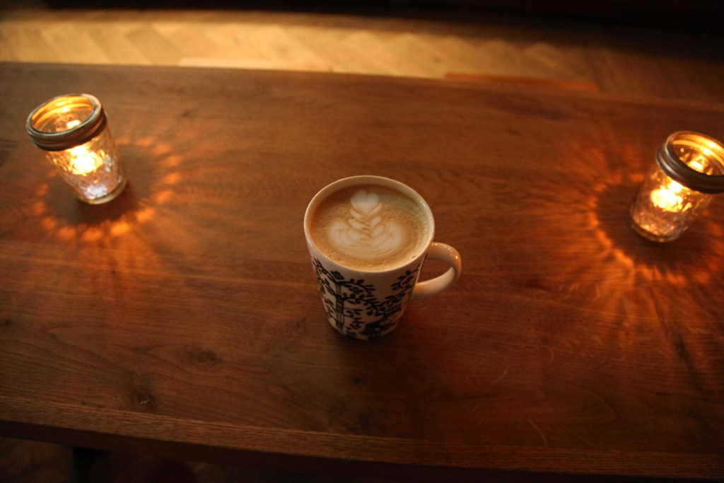 Coffee Shop and Bakery - Latte on Table