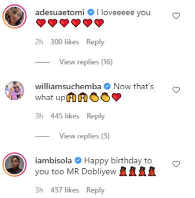 Wizkid, Toke Makinwa, And Others React As Banky W And Adesua Etomi Welcomes New Child, Adesua Celebrates Birthday