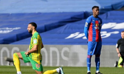 Crystal Palace Striker Wilfred Zaha Becomes The First Player Not To Take A Knee In The English Premier League