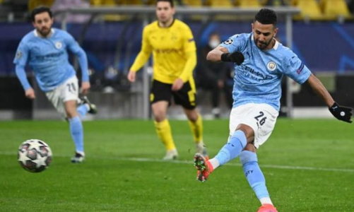 Riyad Mahrez Ends 14-Game Goal Drought As Manchester City Come From Behind To Beat Borussia Dortmund