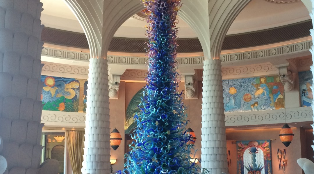 Glass Sculpture in Atlantis, The Palm, foyer.