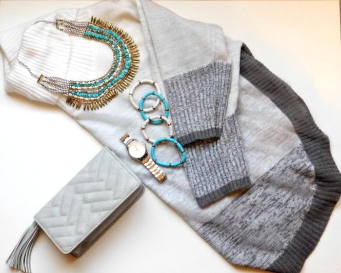 Fall Clothes - Kim Rogers Sweater, Kate Spade Watch, New Direction Necklace & Wet Seal Purse