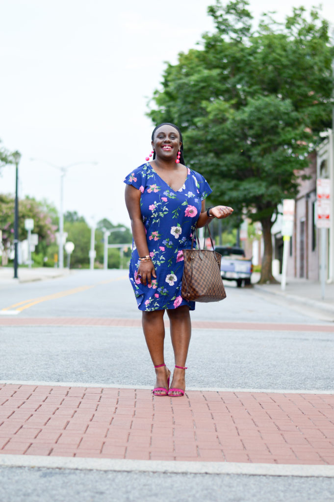 floral dress-old navy-sales-clearance finds-black bloggers connected-sandals