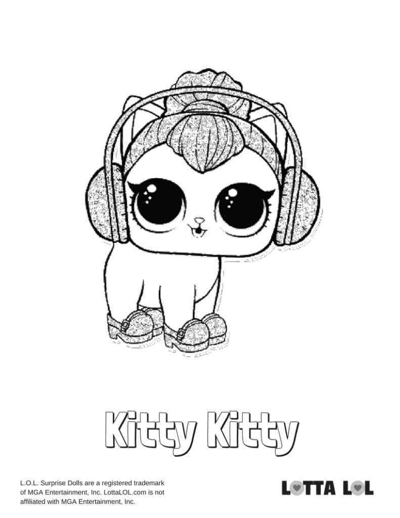Kitty K Lol Doll Coloring Pages Novocom Top