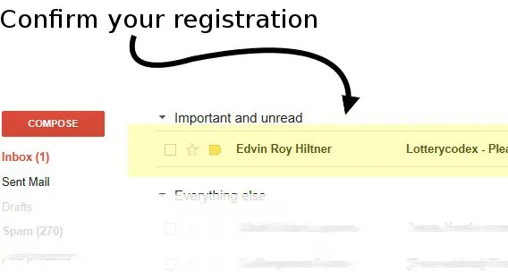 confirm your registration