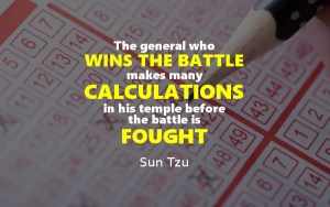 the general who wins the battle makes many calculations in his temple before the battle is fought