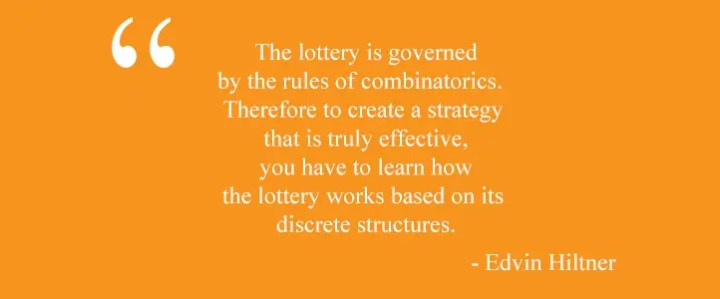 The lottery is governed by the rules of combinatorics according to Edvin Hiltner
