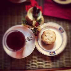Mulled wine and minced pies
