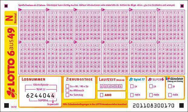 Lotto 6aus49 Normal