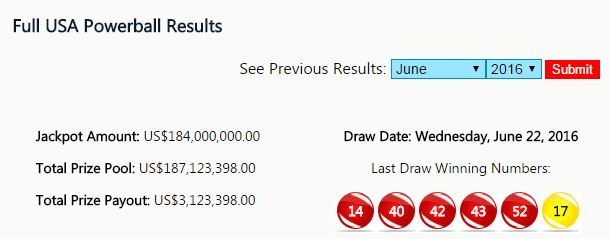 "The full USA Powerball results will answer your question ""what were the winning Powerball numbers tonight?"""