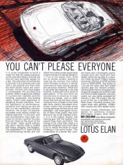 1964 Lotus Elan ad - You Can't Please Everyone