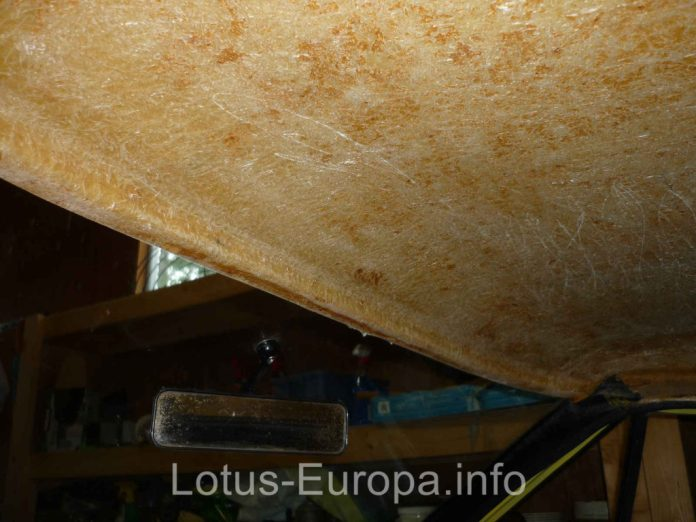 Headliner removed from Lotus Europa