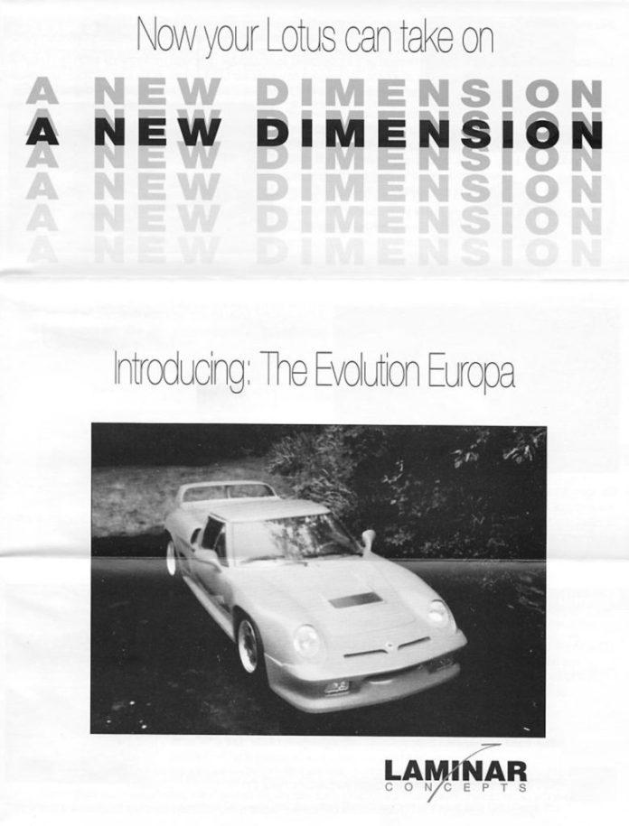 Laminar Concepts Lotus Europa brochure