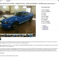 Crashed Mustang Craigslist ad