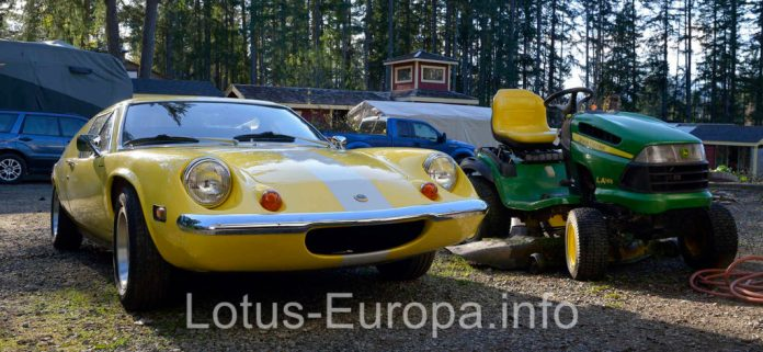 Lotus Europa and John Deere