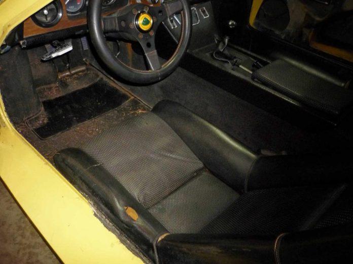 Worn out Lotus Europa interior