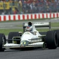 Mika Hakkinen drives the Lotus-Judd 102B