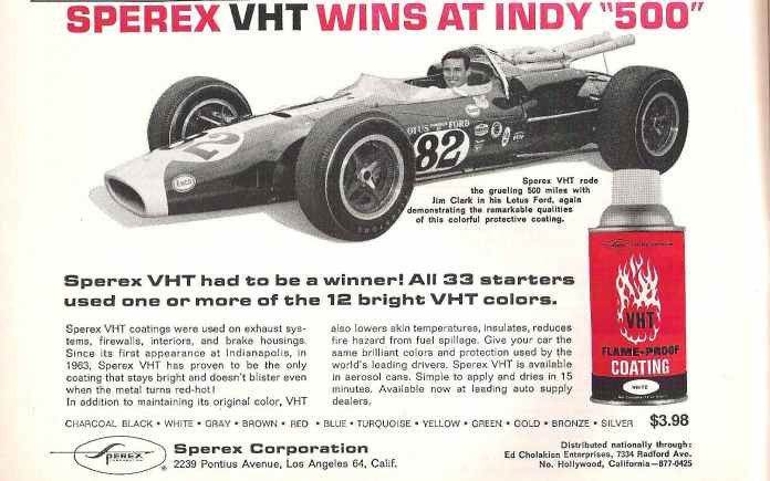 Sperex VHT Jim Clark Lotus Ford