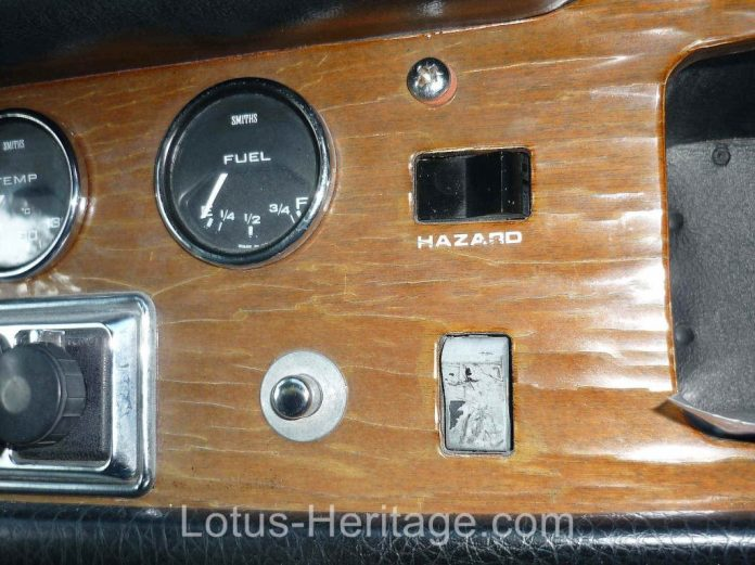 Old Lotus Europa dash