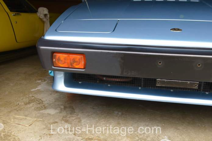 Applying Armor All to Lotus Esprit front bumper