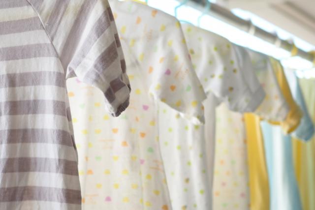 サンルームの洗濯物