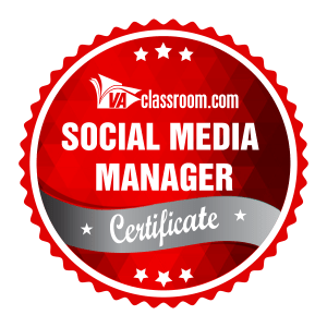 Red Social Media Manager Certification circular red design
