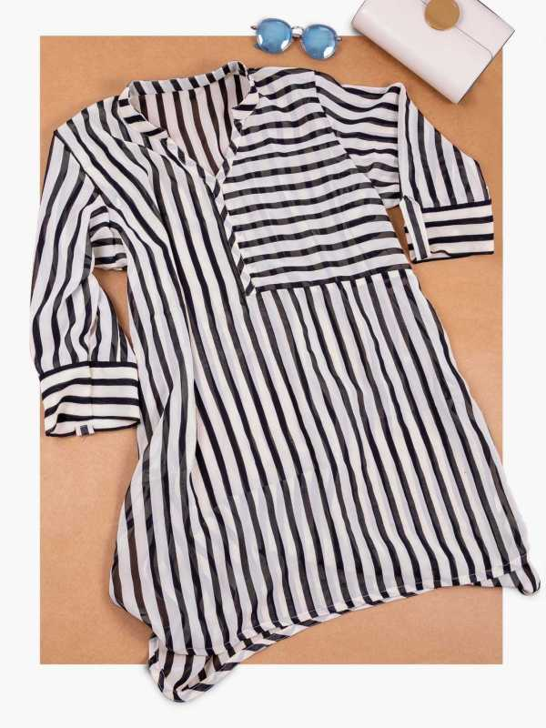 Striped Georgette Plus Size Top