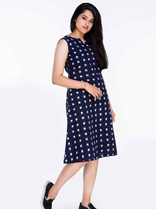 100% Cotton Knee Length Dress