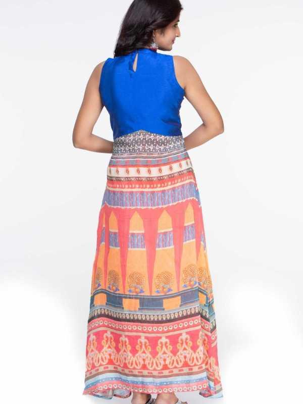 Plus Size Silk Maxi Dress