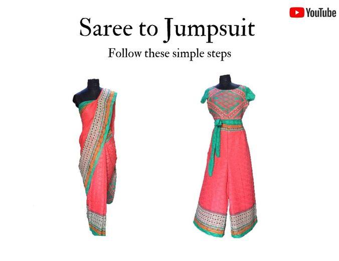Saree to jumpsuit