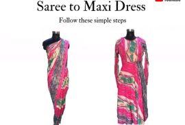 Old Saree To Maxi Dress