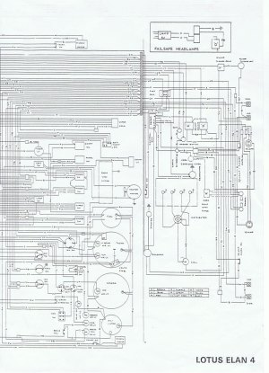 Wiring diagram for Lotus Elan Series 4
