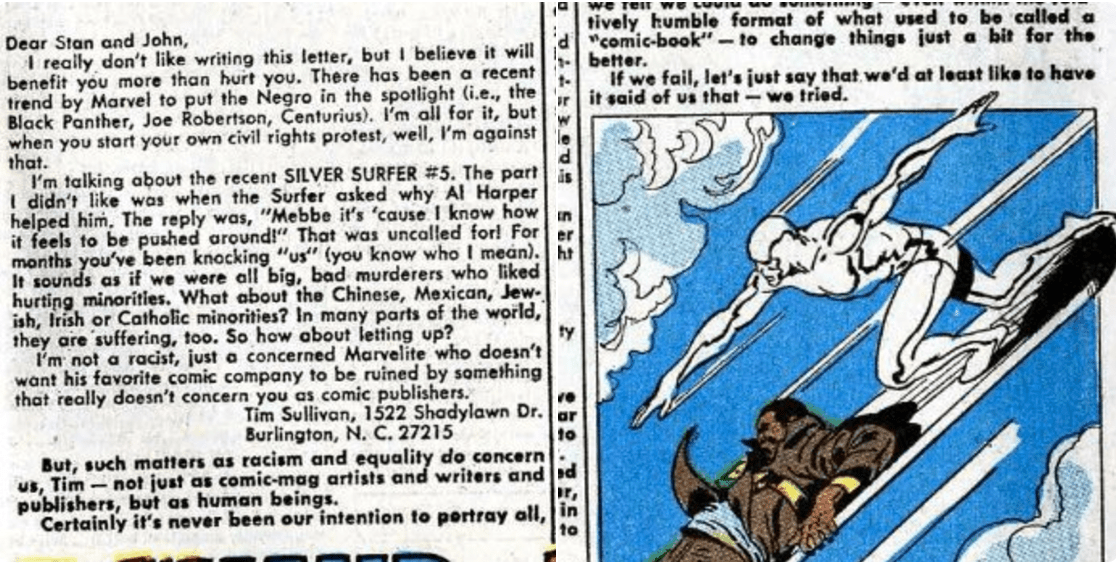 "Marvel on social justice in comics in 1969: ""We can say we tried."""