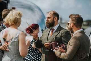 Lotus Photography UK 20190831 Jen & Ad Wedding Tintagel Cornwall Festival Wedding Tipi 194