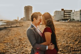 Lotus Photography UK 20200911 Dom & Rose Worthing Sussex Beach Engagement Photoshoot 15 WM