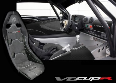 Standard interior picture of the Exige V6 Cup R
