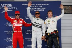 Alonso, Hamilton and Kimi on the podium